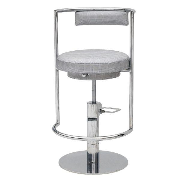 Wondrous Oro Bar Stool Is A Heavy Duty Chromed Barstool Swivel Bar Stool Pabps2019 Chair Design Images Pabps2019Com