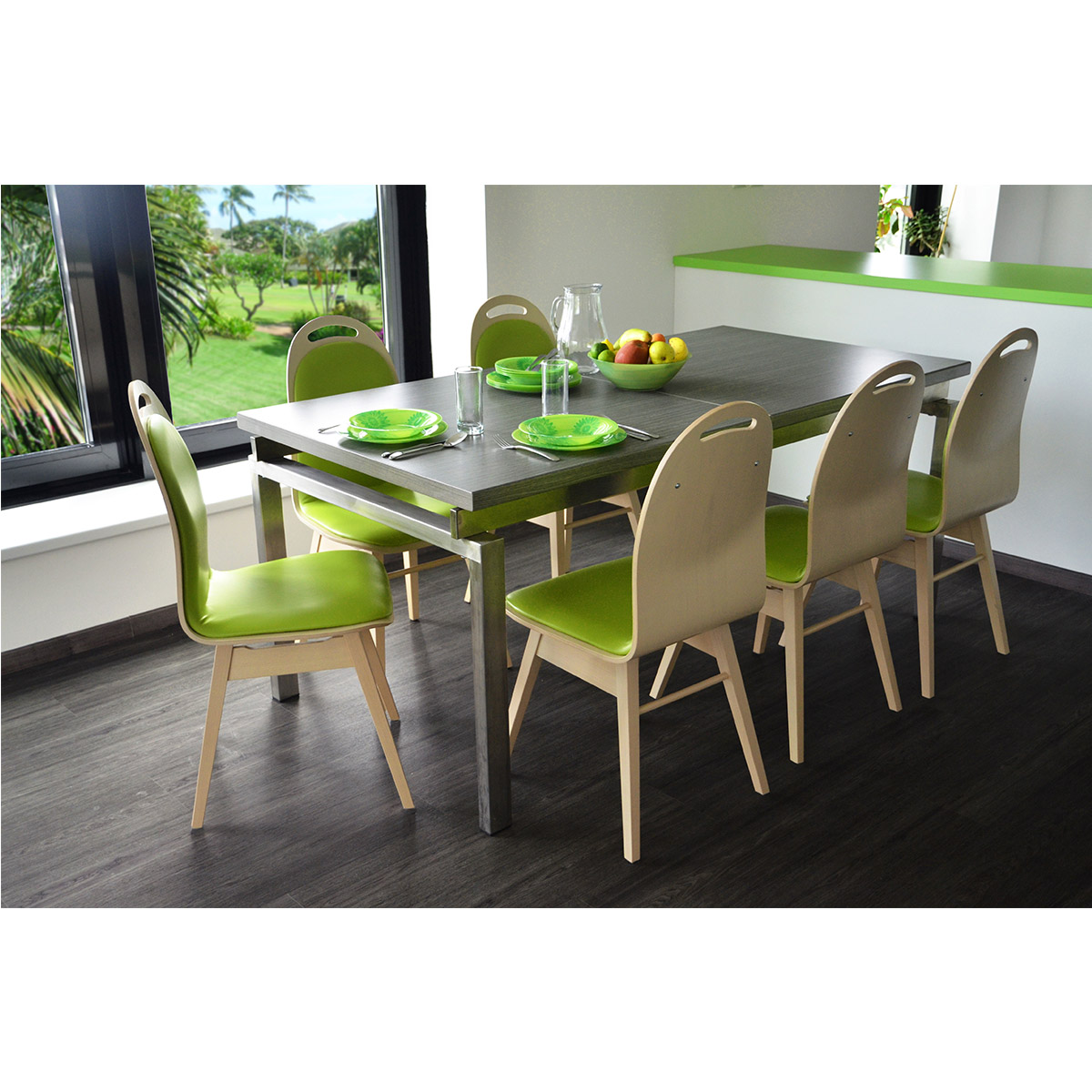 Orlando T152 is elegant dining table with fixed or stretchable option.