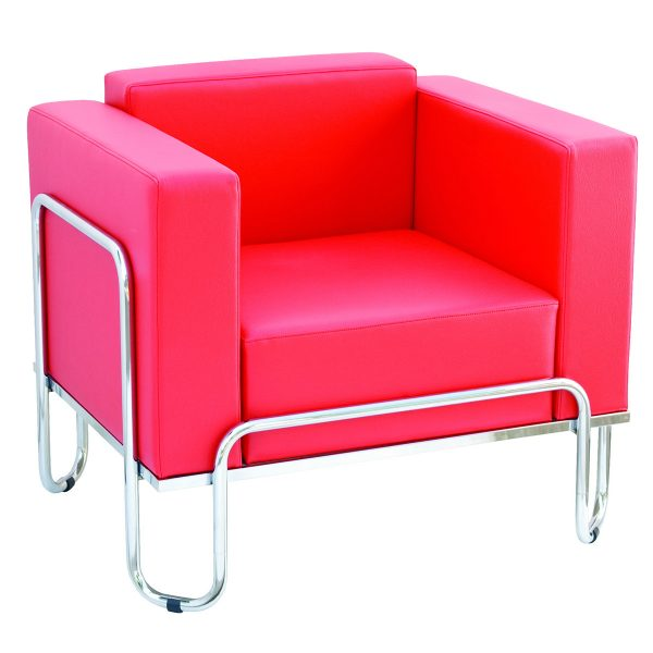 chromed armchairs